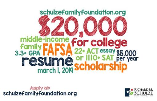 FRC Schulze Poster for Scholarship 2019 NOW OPEN