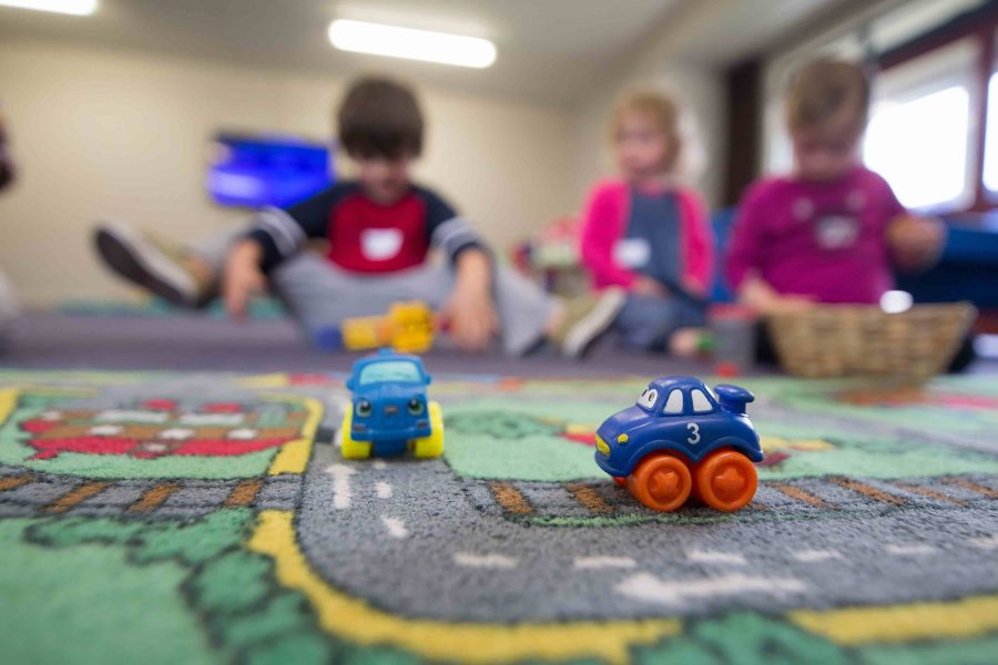 toy cars on play mat