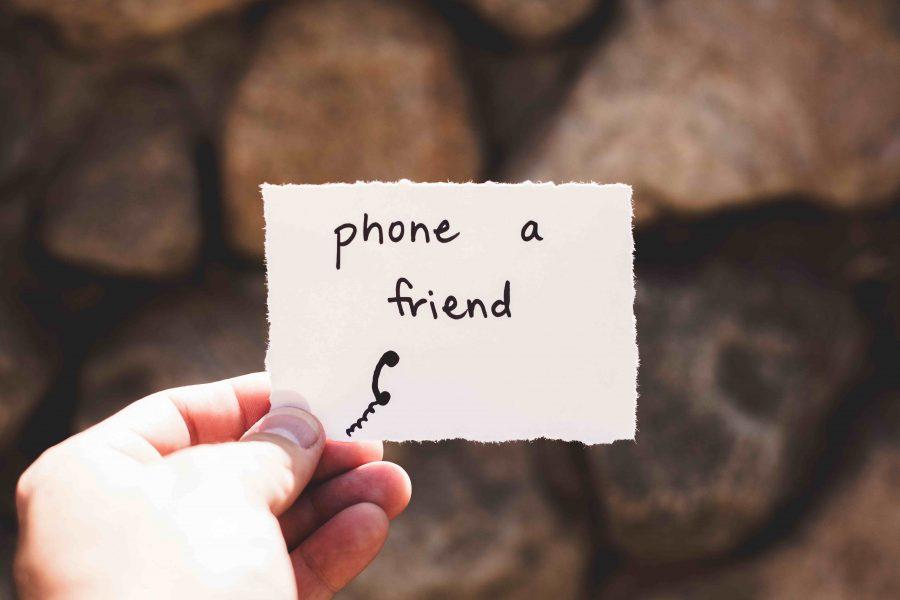 Phone a Friend note