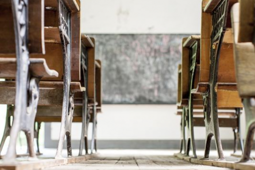 Old School Desks in Classroom | Future Ready Collier - Naples, Florida